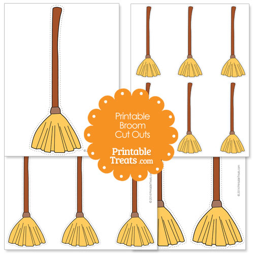 printable broom cut outs
