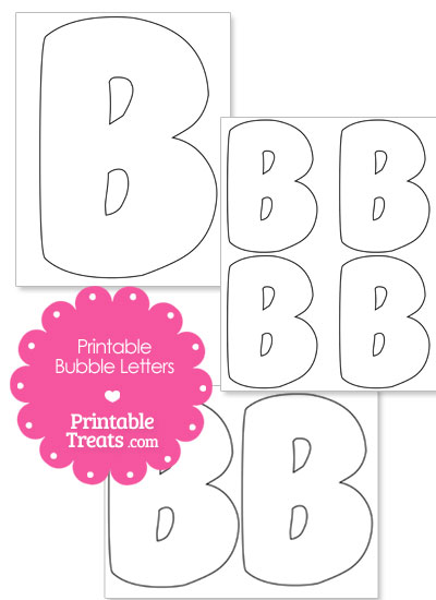 Printable Bubble Letter B Template from PrintableTreats.com