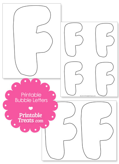 Printable Bubble Letter F Template from PrintableTreats.com