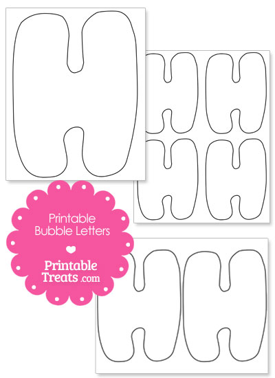 Printable Bubble Letter H Template from PrintableTreats.com