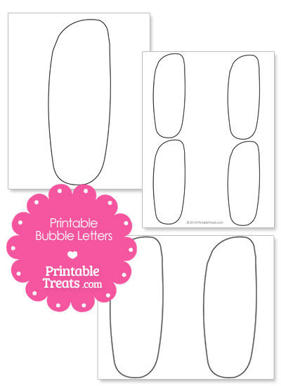 Printable Bubble Letter I Template from PrintableTreats.com