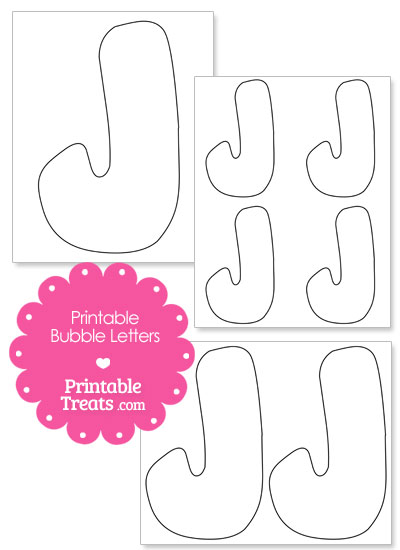 Printable Bubble Letter J Template from PrintableTreats.com