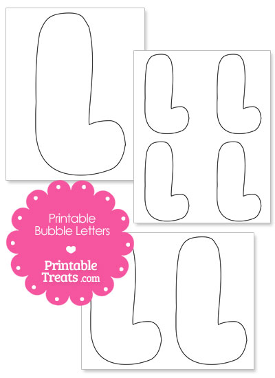 Printable Bubble Letter L Template from PrintableTreats.com