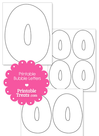 Printable Bubble Letter O Template from PrintableTreats.com