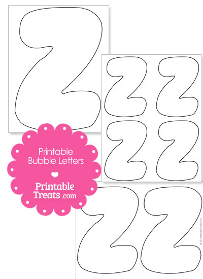 Printable Bubble Letter Z Template from PrintableTreats.com