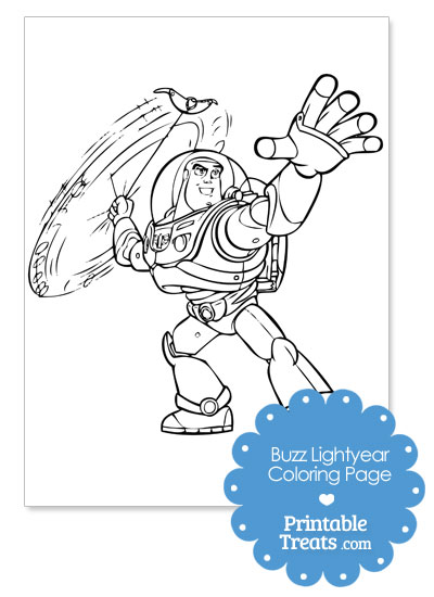 Printable Buzz Lightyear Coloring Page from PrintableTreats.com