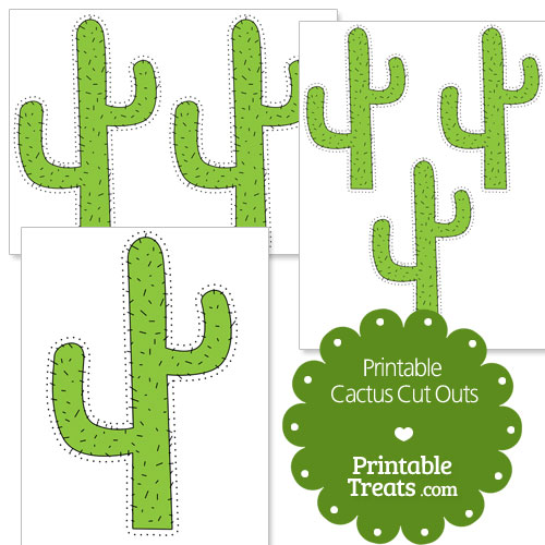 printable cactus cut outs