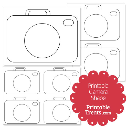printable camera shape template