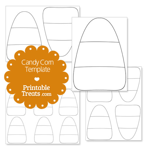 printable candy corn template
