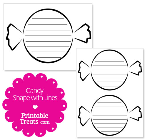 printable candy shape with lines