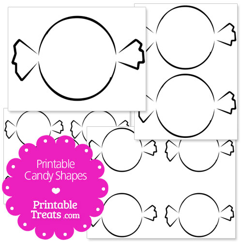 printable candy shapes