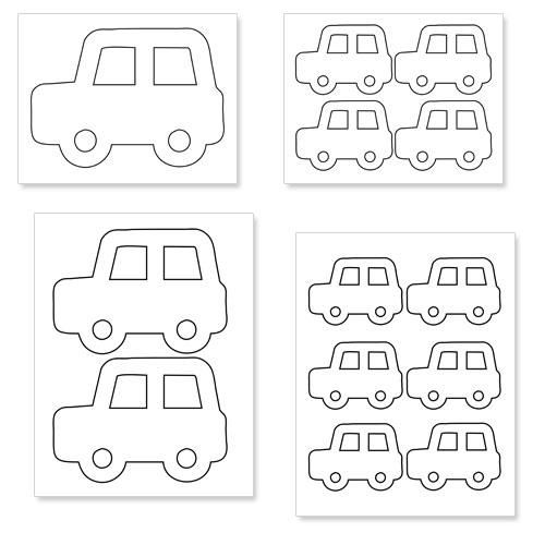 printable car shapes
