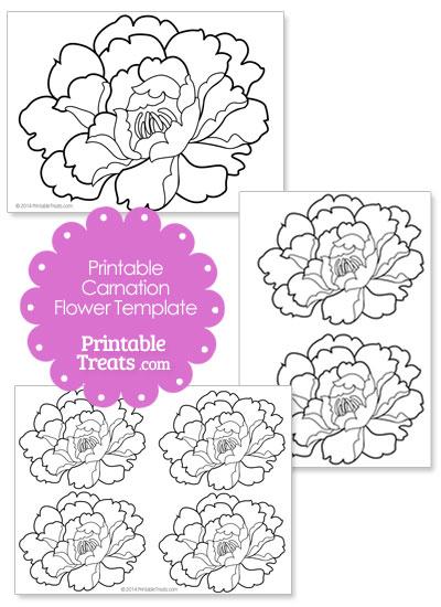 Printable Carnation Flower Template from PrintableTreats.com