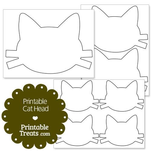 printable cat head