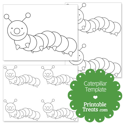 printable caterpillar shape template