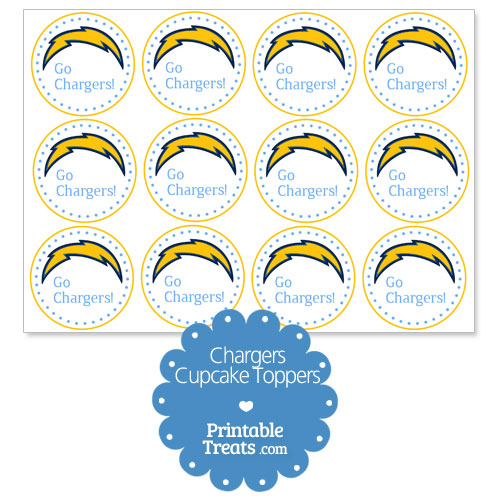 printable chargers bolt cupcake toppers