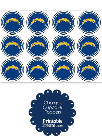 Printable Chargers Logo Cupcake Toppers from PrintableTreats.com