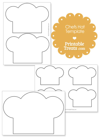 Printable Chefs Hat Outline from PrintableTreats.com