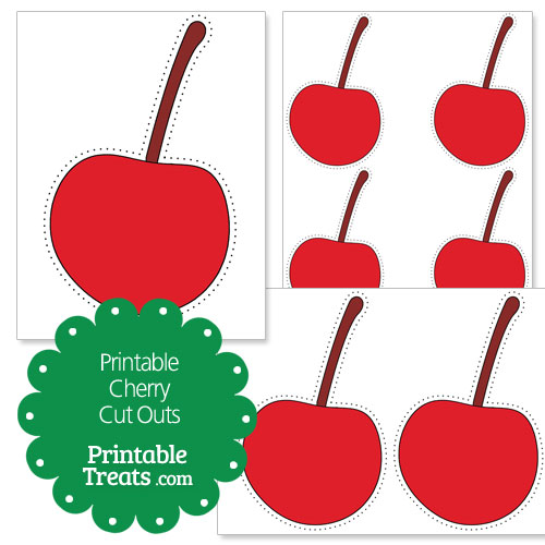 printable cherry cut outs