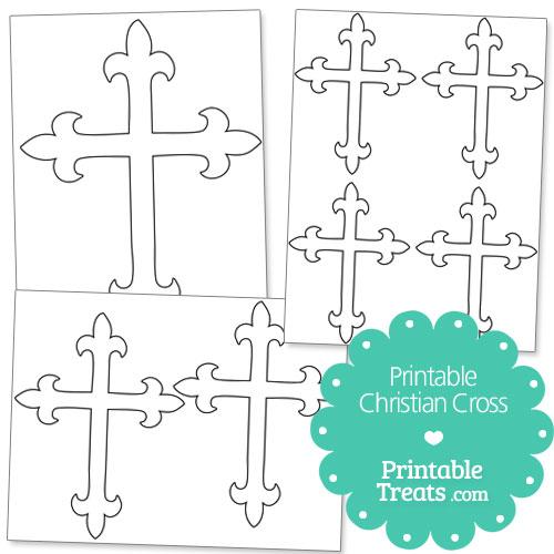 printable Christian cross