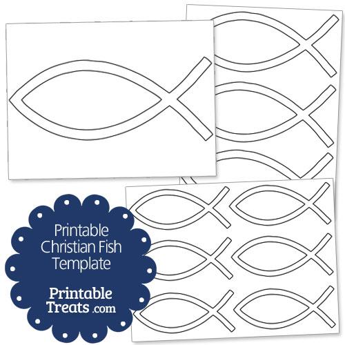 printable Christian fish template