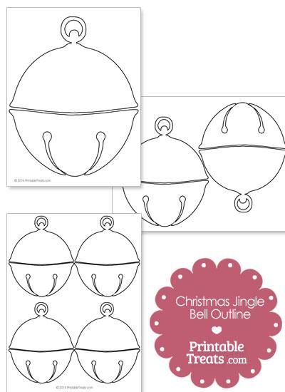 Printable Christmas Jingle Bell Outline from PrintableTreats.com