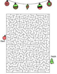 printable christmas maze ornaments