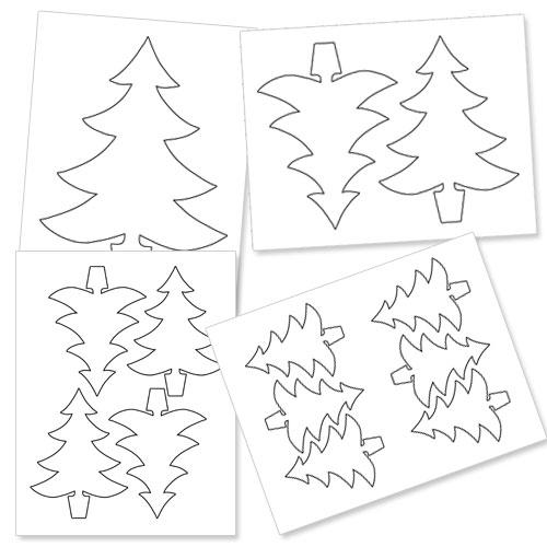printable christmas tree outline