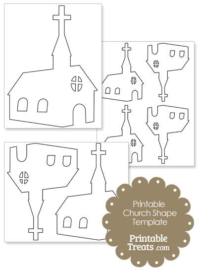 printable church shape template