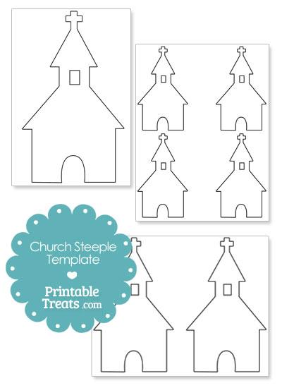 Printable Church Steeple Shape Template from PrintableTreats.com