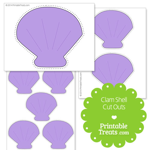printable clam shell cut outs