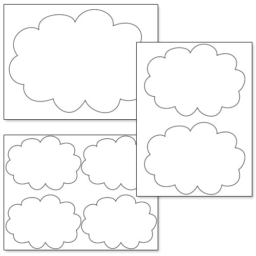 printable cloud cutouts