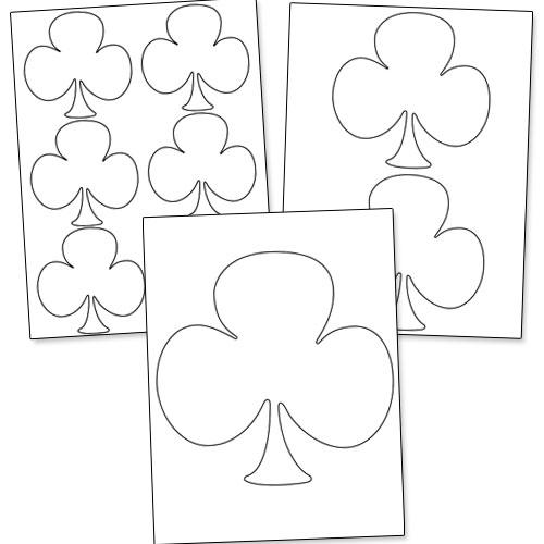 printable club shape