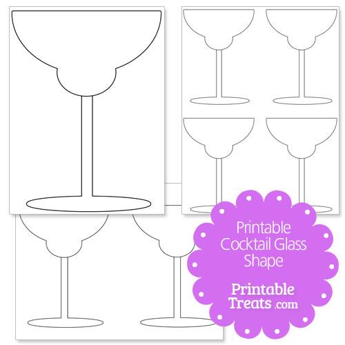 printable cocktail glass shape template