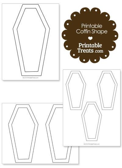 Printable Coffin Shape from PrintableTreats.com