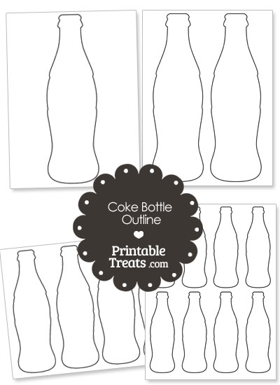 Printable Coke Bottle Outline from PrintableTreats.com