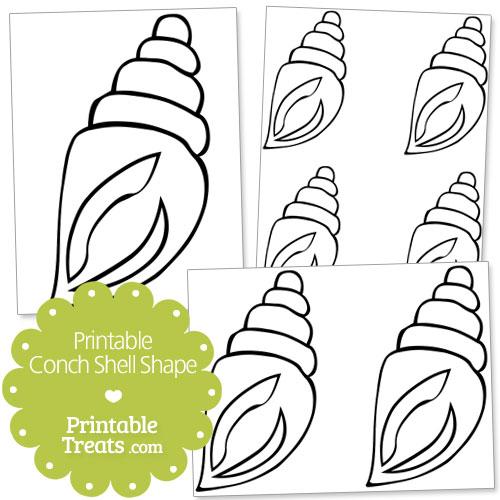 printable conch shell shape