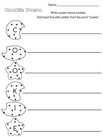 printable cookie acrostic poem
