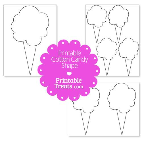 printable cotton candy shape