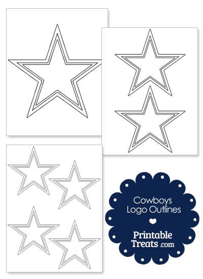 Printable Cowboys Logo Outlines from PrintableTreats.com