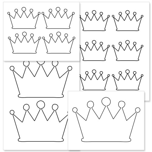 printable crown shapes