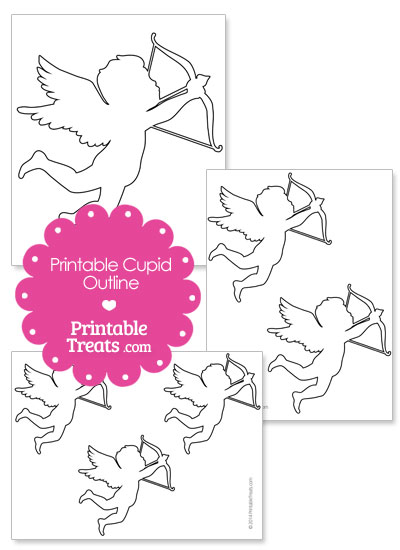 Printable Cupid Outline from PrintableTreats.com