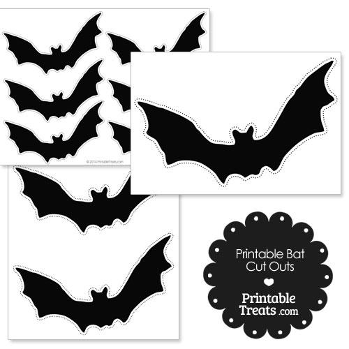 printable cut out bats