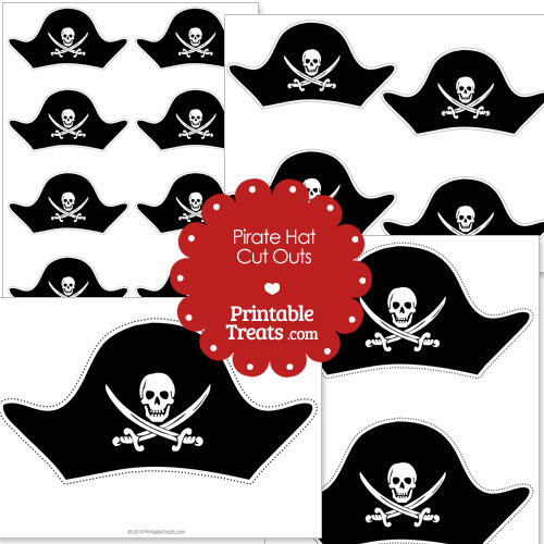 printable cut out pirate hat