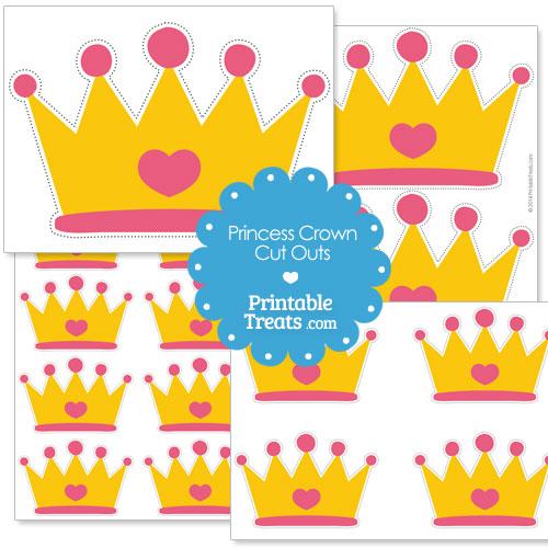 printable cut out princess crown