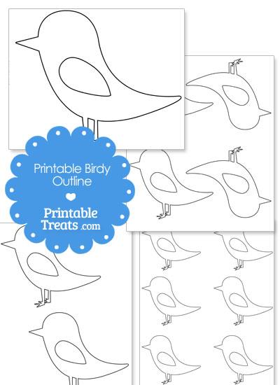 Printable Cute Birdy Outline from PrintableTreats.com