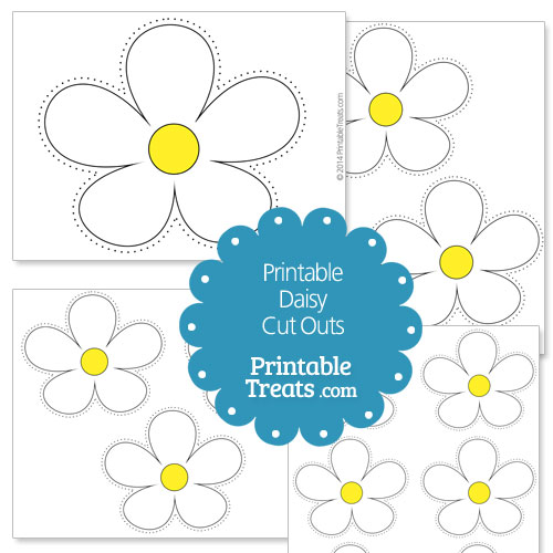 printable daisy cut outs