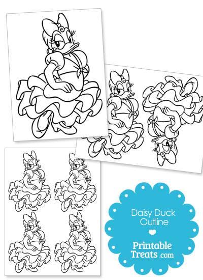 Printable Daisy Duck Outline from PrintableTreats.com