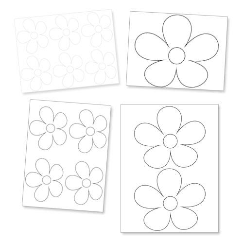 printable daisy flower template