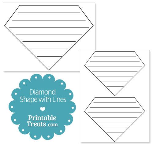 printable diamond shape with lines